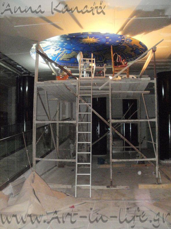 Art - in - Life : Έργο_8δ: Ζωδιακός κύκλος_ στο lobby του Rethymno Residence hotel