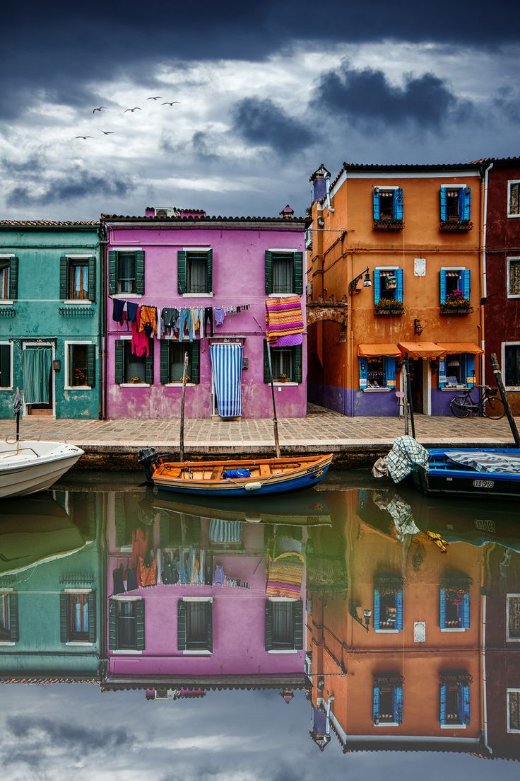 ~~WATERWAY COLORS ~ colorful reflections, Venice, Italy by Mr Friks~~