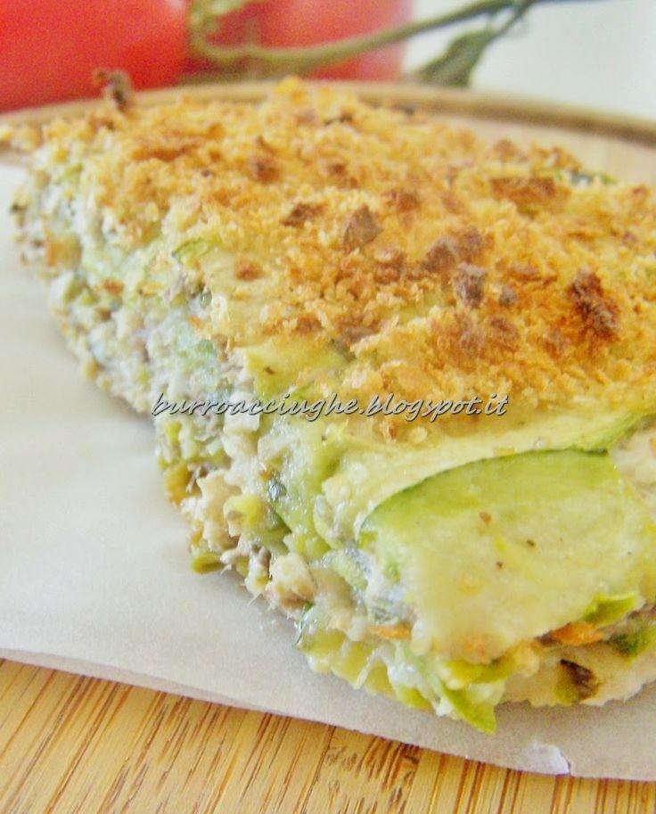 Tortino di alici e zucchine #zucchine #tortino #alici #anchovies #italiandish