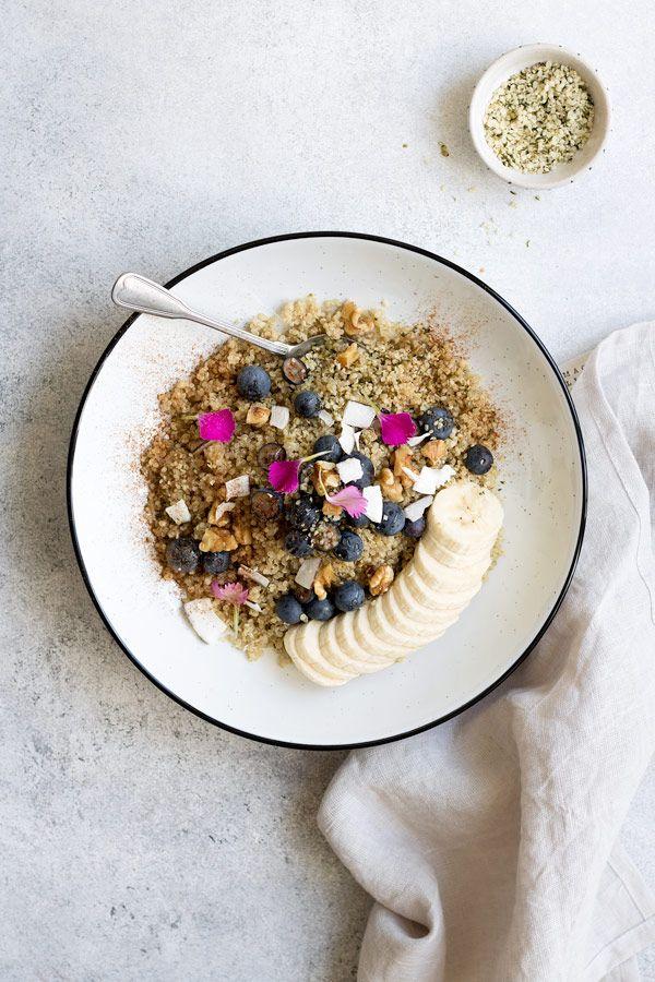 Maple Cinnamon Breakfast Quinoa Bowl Recipe Healthy Breakfast Options Breakfast Quinoa Breakfast Bowl