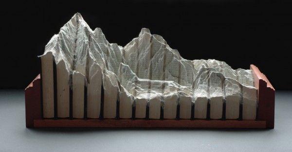Guy Laramee, Carved Book Landscape