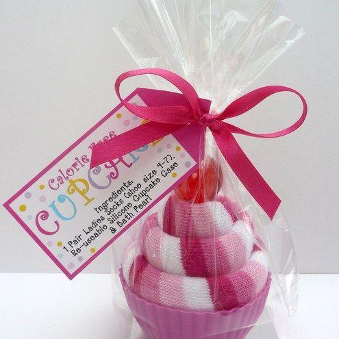 Sock Cupcake-cute gift idea