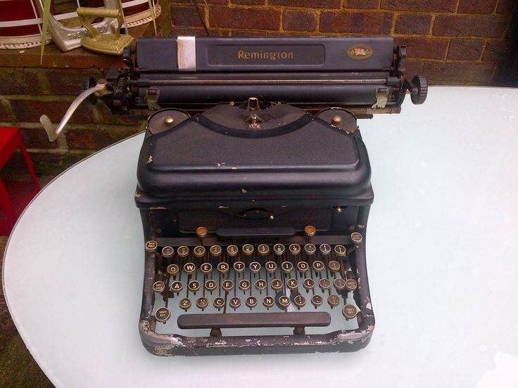 Lovely old remington typewriter for sale in our stand in St. Albans