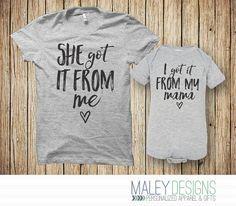 Matching moeder dochter Outfit - ze kreeg het van mij / ik heb het van mijn mama  ►TO BESTELLING 1. Selecteer de grootte van de Romper en een