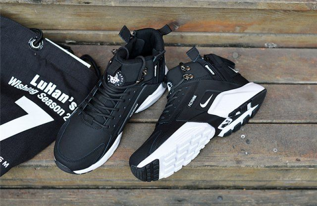 dede57ee7b8a New Arrival NIke Huarache X Acronym City MID Leather Men s Running Sports  Shoes Carbon   White