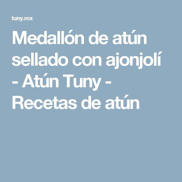 Medallón de atún sellado con ajonjolí - Atún Tuny - Recetas de atún