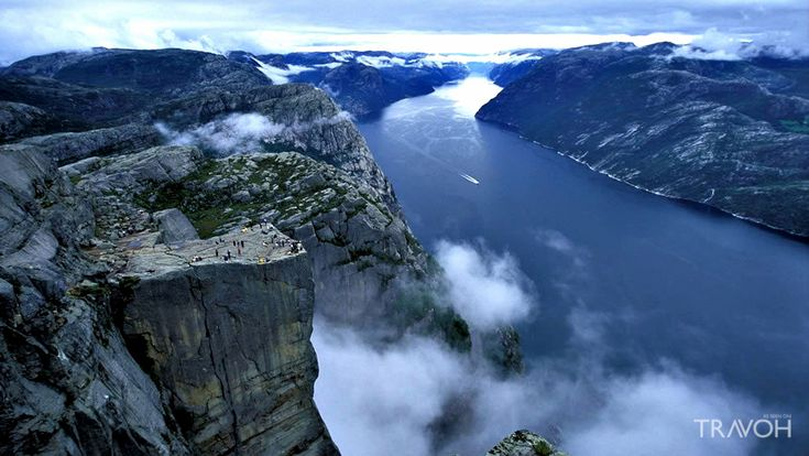 Preacher's Pulpit Rock – Preikestolen is One of the Most Visited Natural Tourist Attractions in Norway