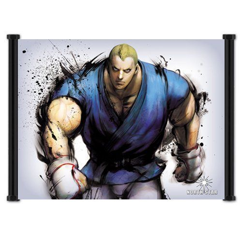 Street Fighter IV 4 Game Abel Fabric Wall Scroll Poster (21x16) Inches @ niftywarehouse.com #NiftyWarehouse #StreetFighter #VideoGames #Gaming