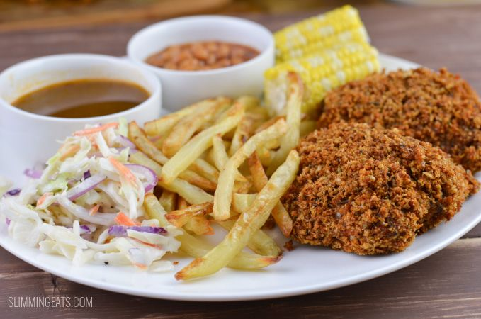 Slimming Eats KFC style feast Fakeaway Night - Slimming World and Weight Watchers friendly