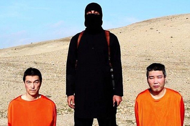 1-20-15 Jihadi john threatens to Kill Japanese hostages Ransom: A video purportedly from ISIS shows Japanese hostages Kenji Goto Jogo and Haruna Yukawa in orange jumpsuits with a British-accented jihadi demanding $200 million in exchange for their lives