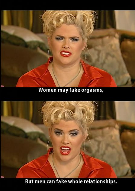 """It's okay to fake an orgasm.   Why """"The Anna Nicole Smith Show"""" Was The Best Reality TV Show Ever"""