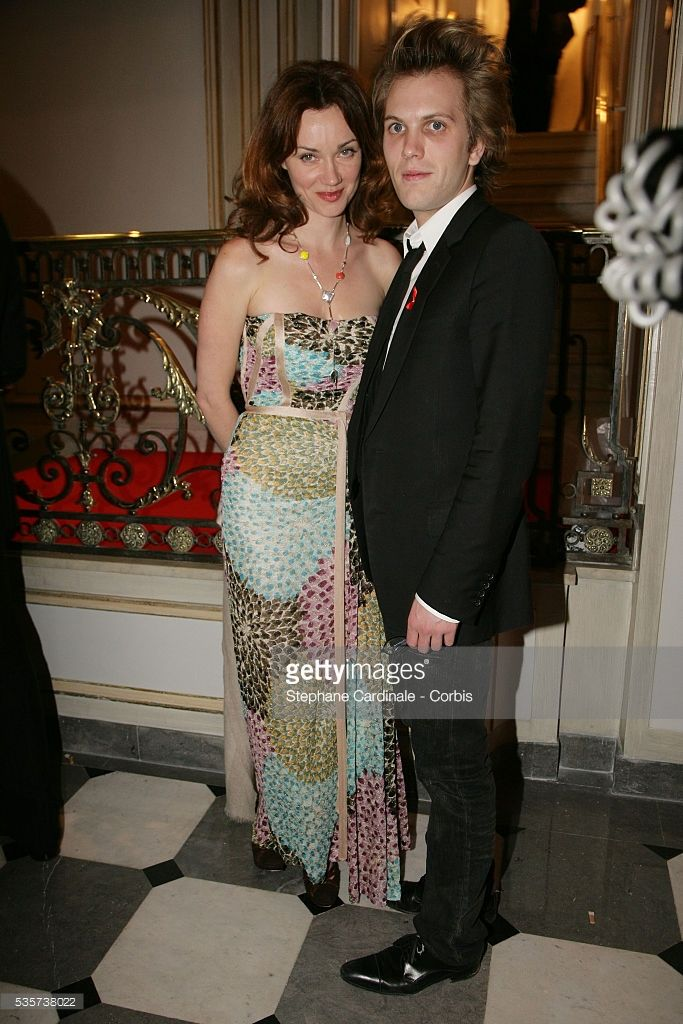 Marine Delterme and Florian Zeller attend the charity gala dinner for Sidaction 2006.
