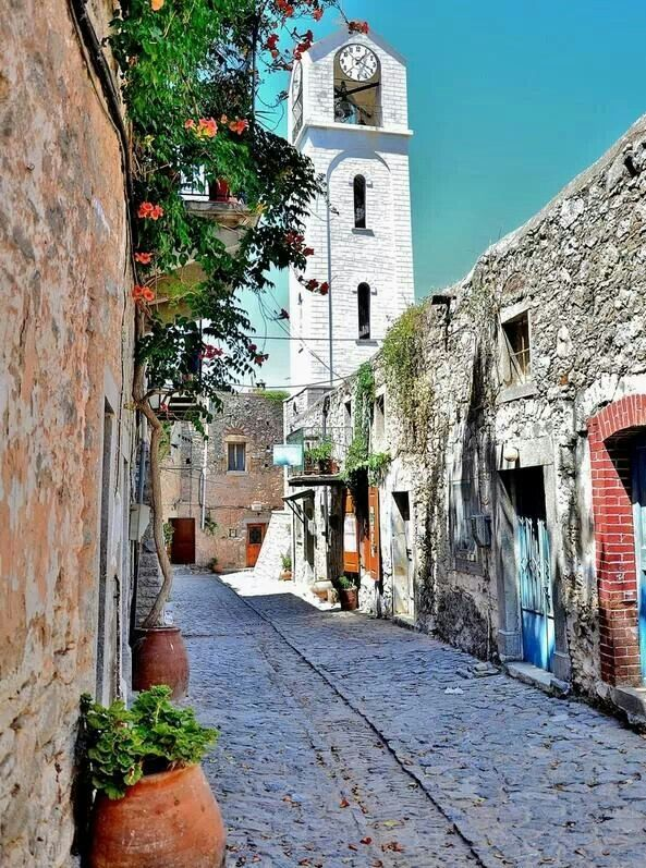 Old village in Chios island