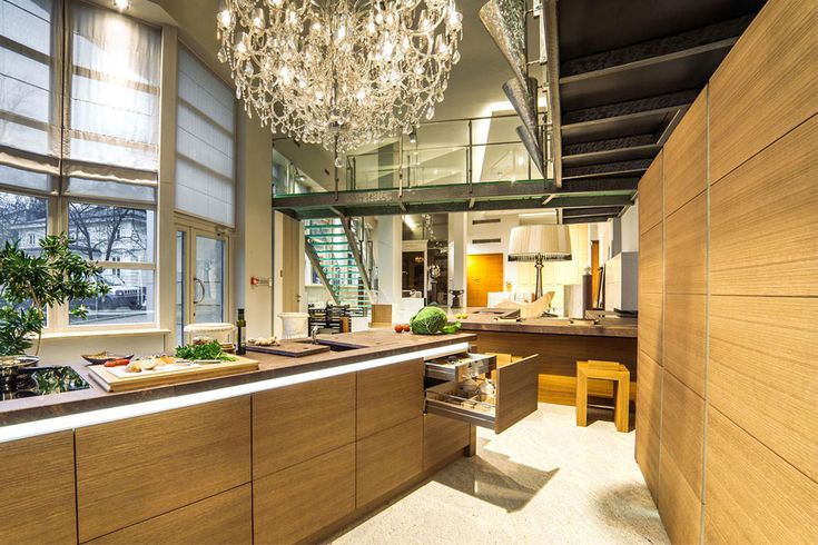 Drewniane meble kuchenne - HomeSquare kitchen kuchnia meble furniture design architekt