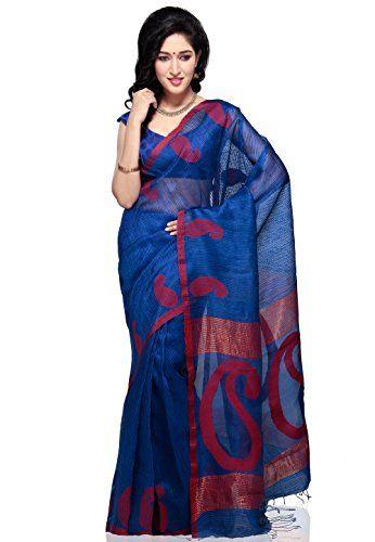 Utsav Fashion Women's Blue Pure Matka Silk Bengal Handloom Saree with Blouse Utsav Fashion http://www.amazon.in/dp/B00KV6GBPQ/ref=cm_sw_r_pi_dp_vWt1tb19RMT2NMG3