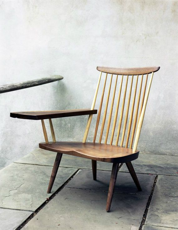 George Nakashima, writing arm chair.