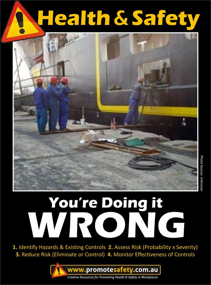 Health & Safety - You're Doing it Wrong. Fall Hazard. Dock Work