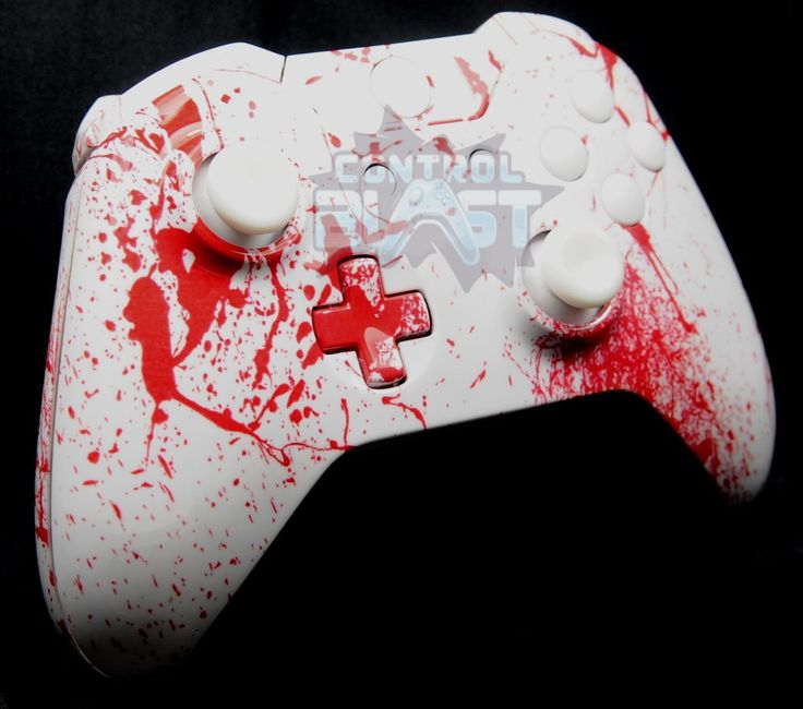 Scary Blood Spatter Xbox One Custom Controller Shell UK