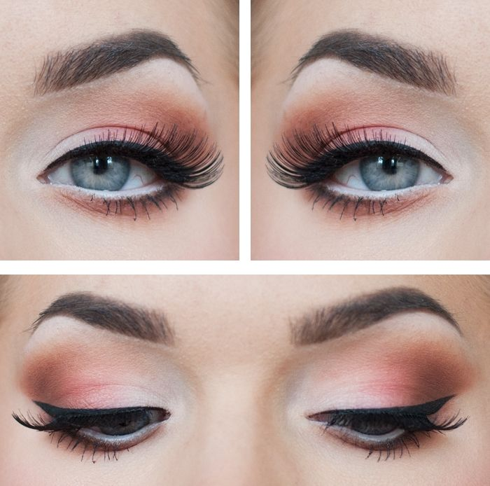Summer makeup, touches of silver and pink
