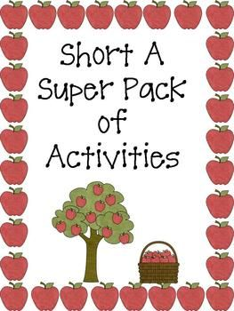 This product contains many short a activities to enhance your short a phonics lessons. .
