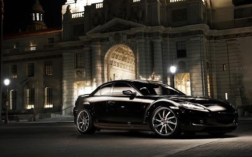 Mazda rx 8 black paint colour concept
