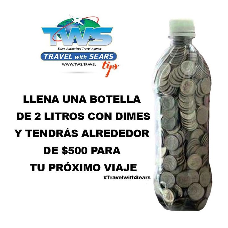 Fill a 2 liter bottle with dimes and you will have about $500 saved for your next trip