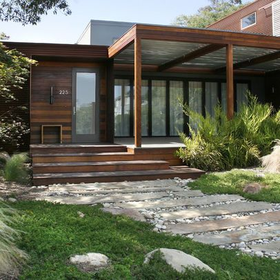 17 best ideas about modern front porches on pinterest for Modern portico designs