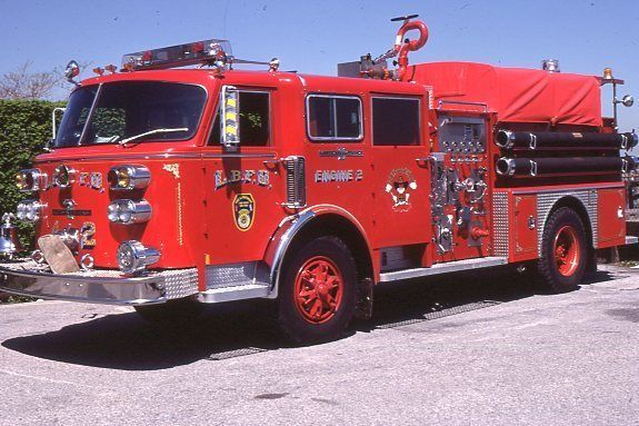 Long Beach NY Engine 2 1982 American LaFrance Pumper - Fire Apparatus Slide