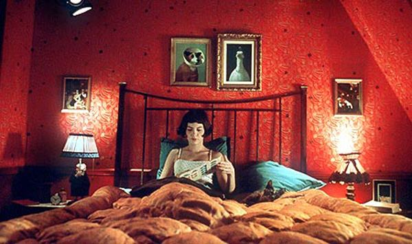 Even if you don't remember anything else from this 2001 French film, we guarantee the stark red wallpaper in the main character's bedroom made a lasting impression — oh and the red door, curtains, chairs, you name it.