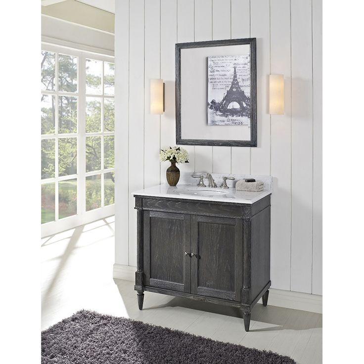"Fairmont Designs Rustic Chic 36"" Vanity for - Silvered Oak"