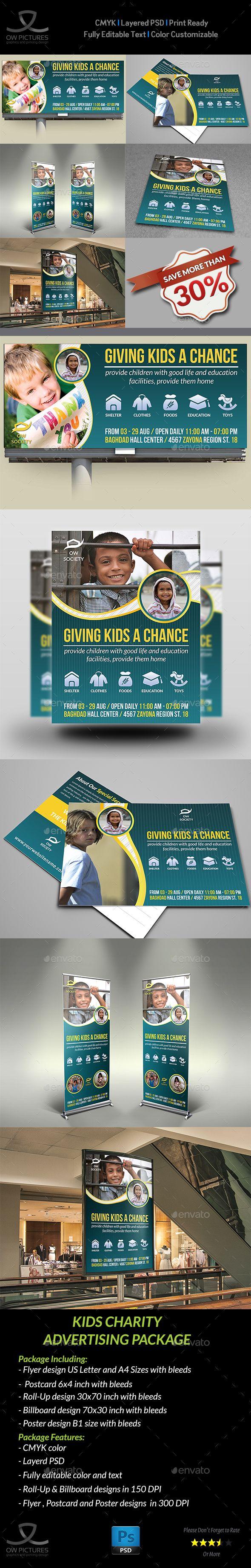 Kids Charity Advertising Bundle Template