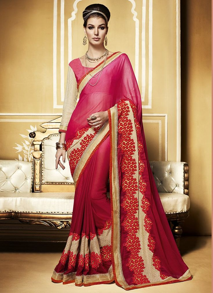 Selections : Pink-silk-embroidered