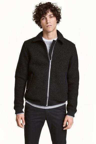 Wool-blend jacket - Black - Men | H&M GB 1