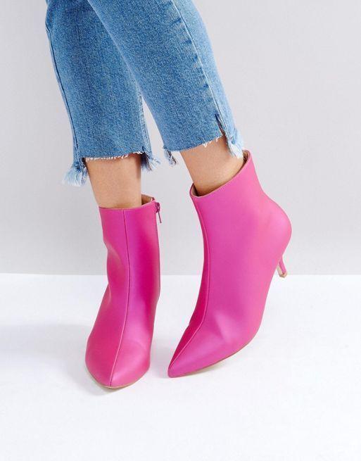Tendance Chaussures 2017  Raid | RAID  Alecia  Bottines à petit talon ASOS.com #pink