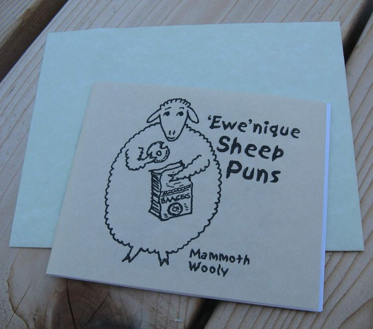 Ewenique Sheep Puns Gift Booklet by mimpy on Etsy