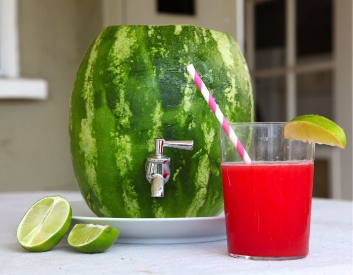 SummerSummer Parties, Parties Drinks, Summertime Drinks, Watermelon Drinks, Summer Bbq, Parties Ideas, Watermelon Carvings, Watermelon Keg, Agua Fresca