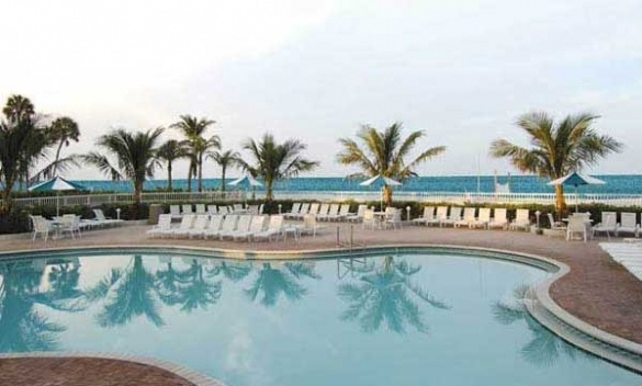The Lido Beach Resort pool overlooking the Gulf of Mexico