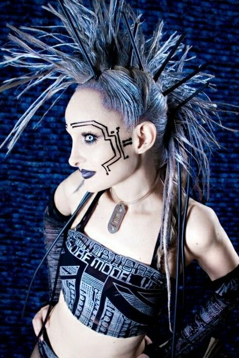 from Dax naked cyber goth girl