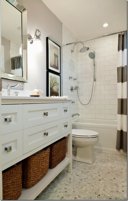 similar to home depot vanity but white - Narrow Bathroom Design
