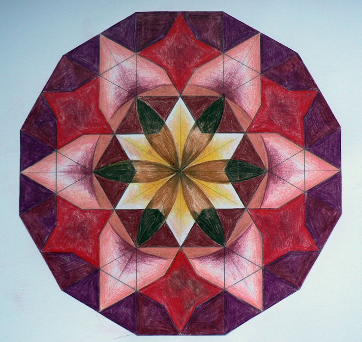 Age 12 ~ Geometric Drawing ~ visit this site for more photos of Children's Workshops - Art of Islamic Pattern