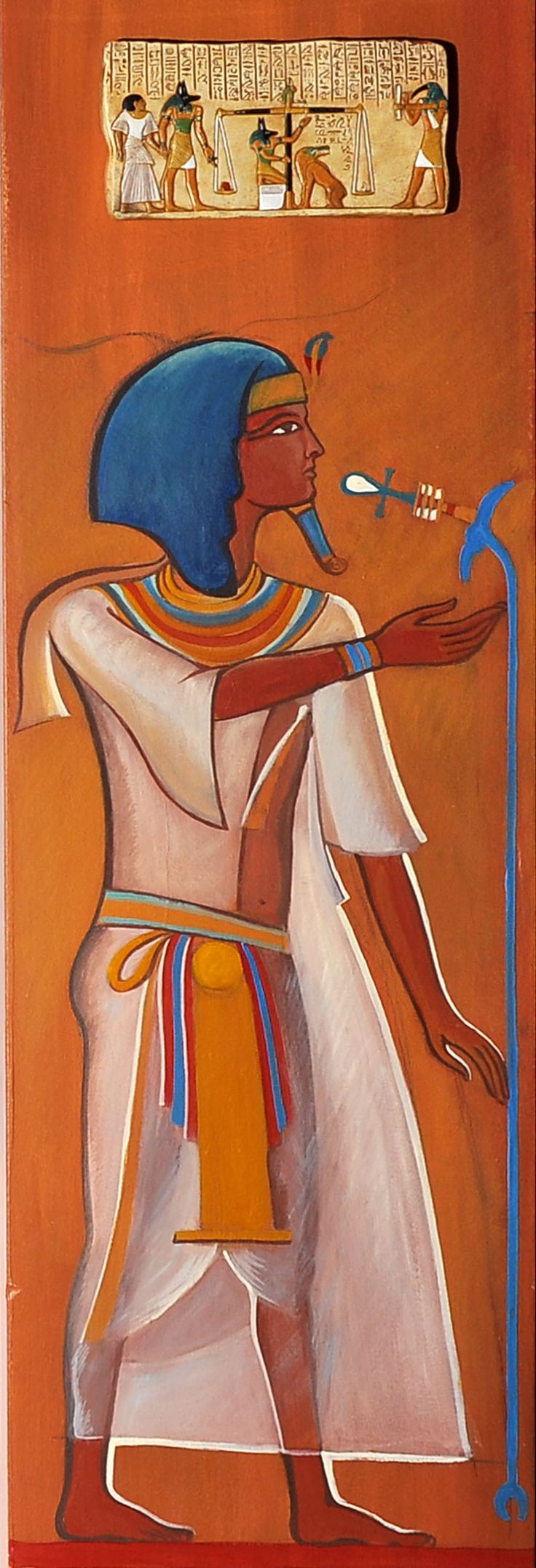 A pharaoh on painted on a wall!