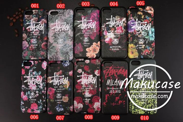 stussy ステューシー iphone7ケース花柄 iphone7plusケース可愛いアイフォン7/7plusケース 水彩風 iphone6s plusケースブランド