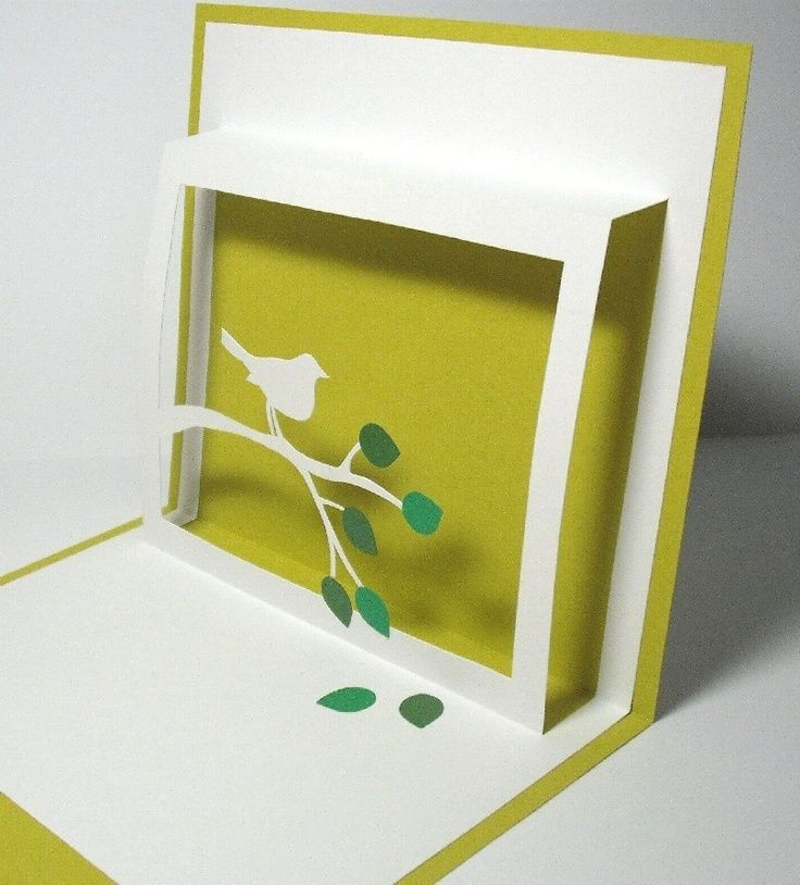 pop up cards!  You could probably add a message from the birds mouth.. like its holding a ribbon....