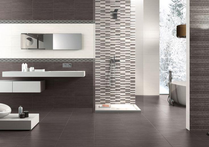 Couleur carreau naxos clio dark 45x45 dark 25x45 white 25x45 listel mosaic dark 7 5x45 et - Naxos ceramiche bagno ...