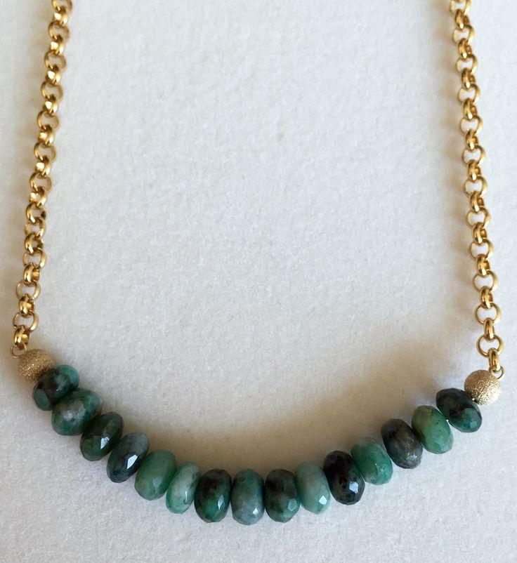 Precious Emerald beads