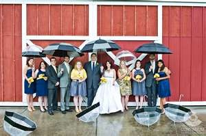rainy barn wedding