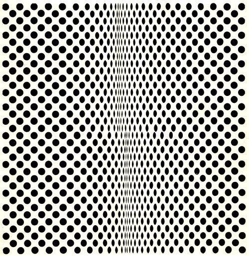 Bridget Riley: Fission, 1963.