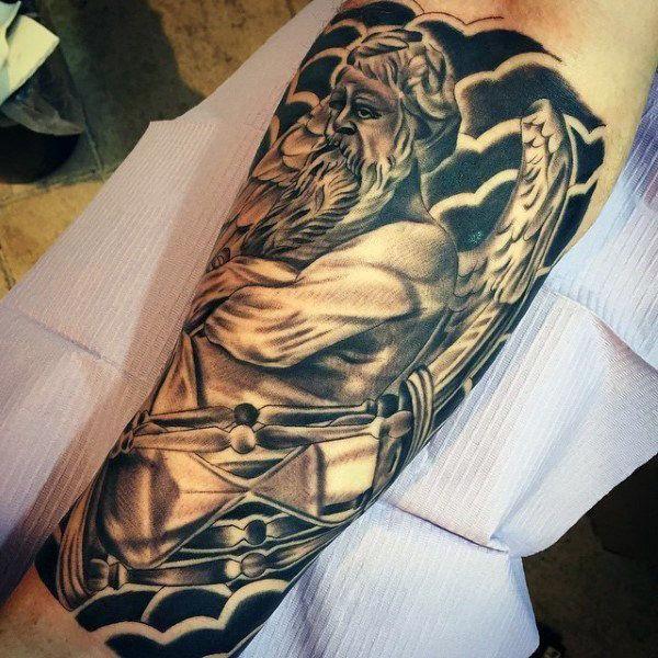 tattoos for men cross and wings b #Tattoosformen