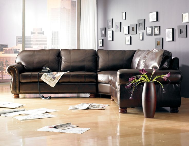 Shop For The Thomasville® Leather Choices   Benjamin Leather Select  Sectional At Johnny Janosik   Your Delaware, Maryland, Virginia, Delmarva  Furniture, ...