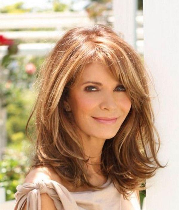 45 Medium Hairstyles For Women Over 50 Fashiondioxide Haircuts For Long Hair Long Layered Haircuts Long Hair With Bangs